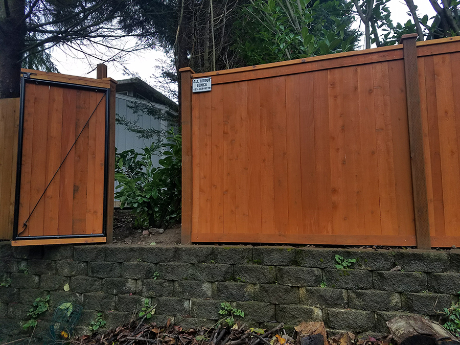 Cedar Wood Fence in Marysville